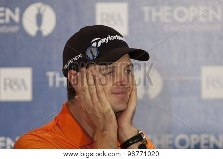 ST ANDREWS, SCOTLAND. July 14 2010:  Justin ROSE from England during his press conference on a preview day for The Open Championship   played on The Royal and Ancient Old Course