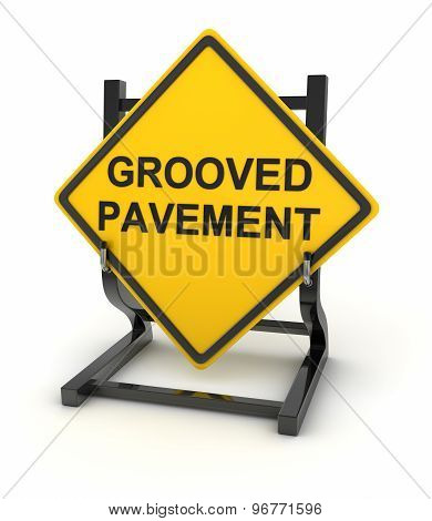 Road Sign - Grooved Pavement