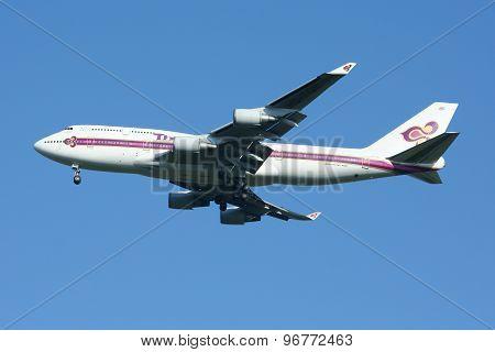 HS-TGX Boeing 747-400 of Thaiairway.