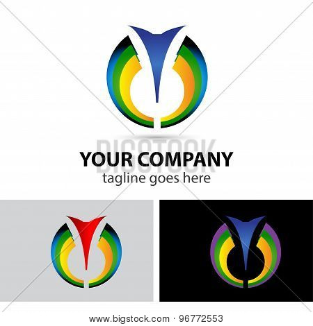 Cosmetics abstract vector logo design template. Health SPA medicine symbol. Pharmacy, technology, me