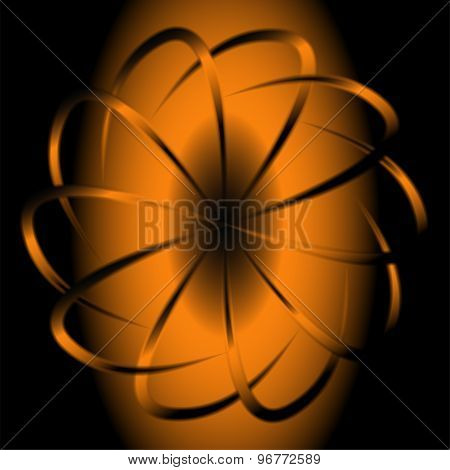 Dark circular background