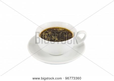 Black coffee with added fats and oil