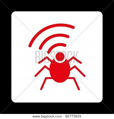 Radio spy bug icon