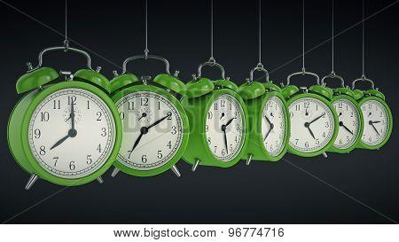 Clock alarm 3D. Time concept.