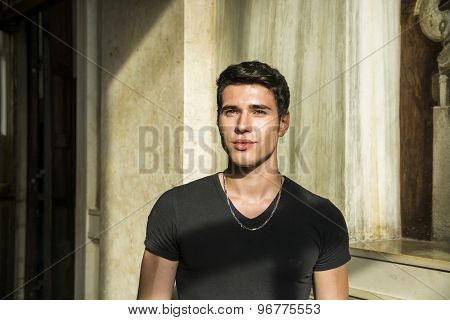 Head and shoulder shot of handsome young man