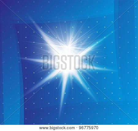 Explosion on a blue background