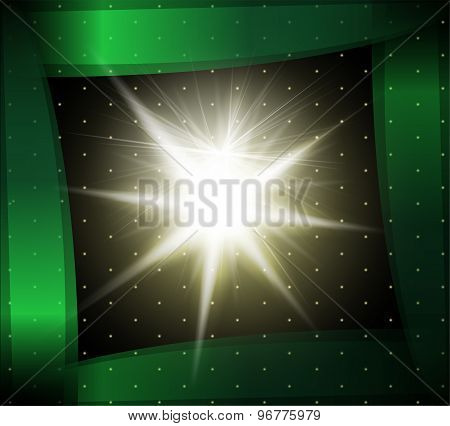 Explosion on a green background