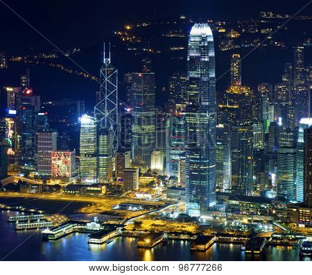 Hong Kong skylines at night