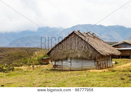 Small Hut On High Mountain Valley