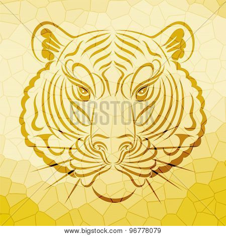 abstract tiger face design