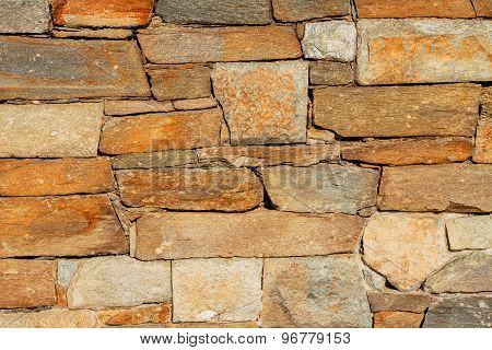 Texture of rough stone wall.