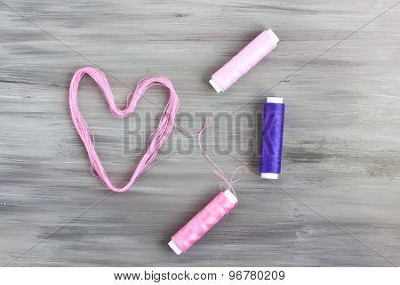 heart shape thread