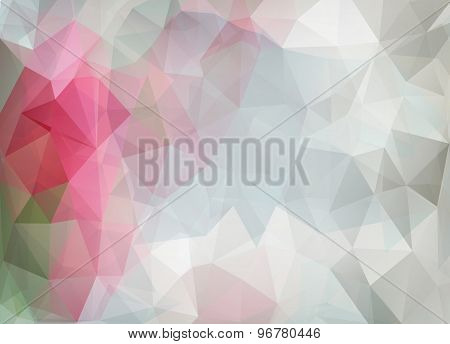 Abstract Vector Background Of Triangles Polygon Wallpaper. Web Design In Romantic Colors