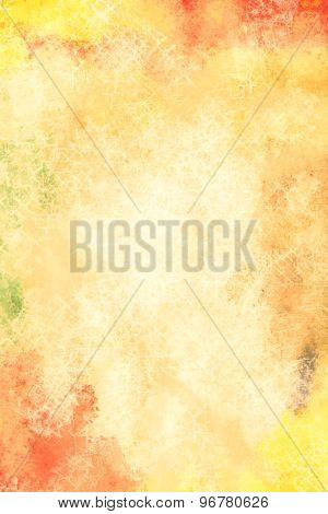 Art abstract painted background in warm hues