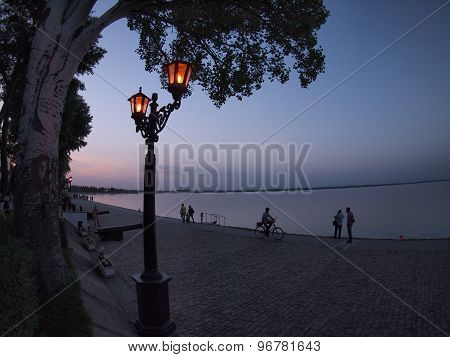 View Of The Azov Sea Urban Waterfront