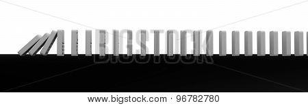 Falling Dominoes Black Background Perfect Illustration For Web Pages And Banners