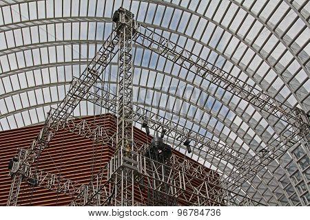 Metal Construction In A Hangar