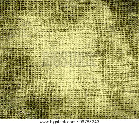 Grunge background of dark khaki burlap texture