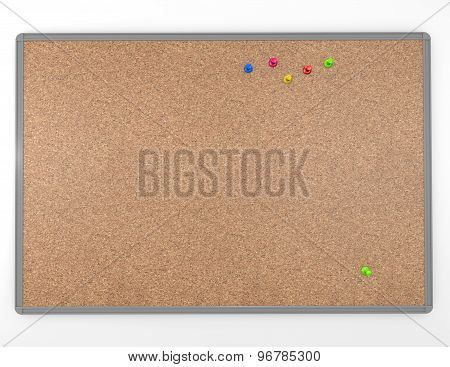 Cork Board Empty With Pins Isolated Blank Background Texture Illustration Isolated
