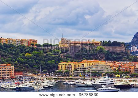 Port Hercule, Luxury Ships And Palace On The Mountain