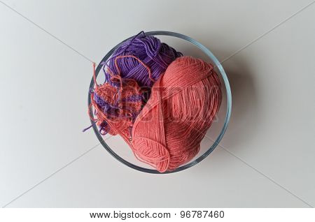 Yarn In A Bowl Viewed From Above