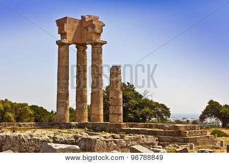 Apollo temple in Rhodes.