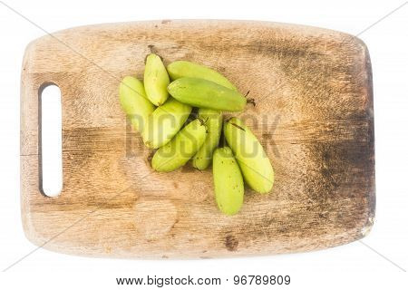 Local carambola fruit, also known as buah belimbing assam or belimbing wuluh in Mala