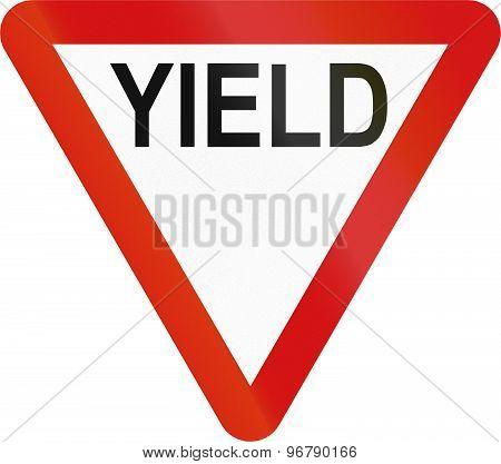 Irish Yield Sign - English Version