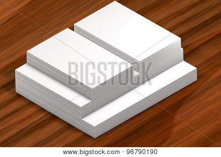Stacks Of Paper. Template To Presentation