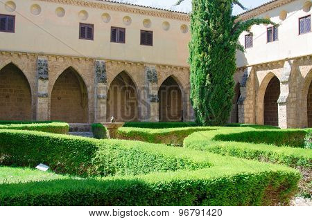 Courtyard Of The Famous Monasterio De Piedra