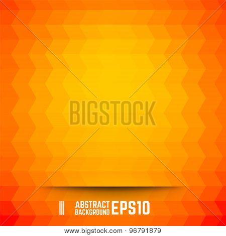 Orange Abstract Rhombus Background