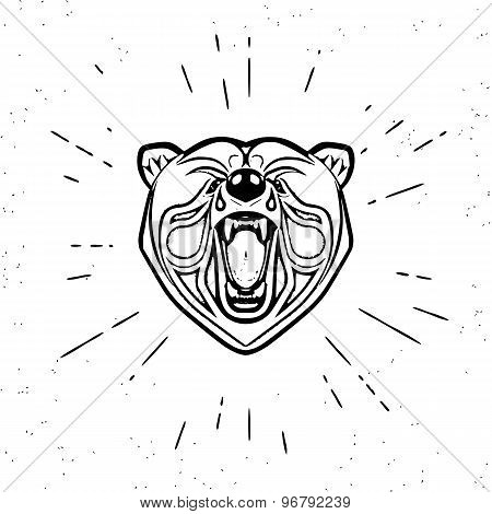Vintage screaming bear