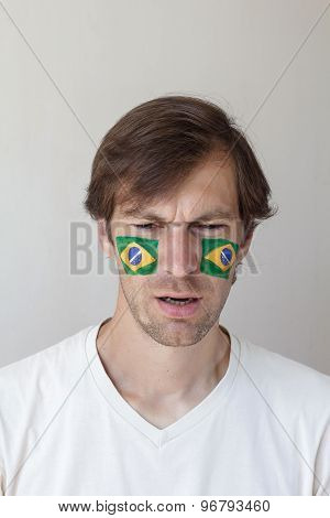 Upset Brazilian Sports Fan