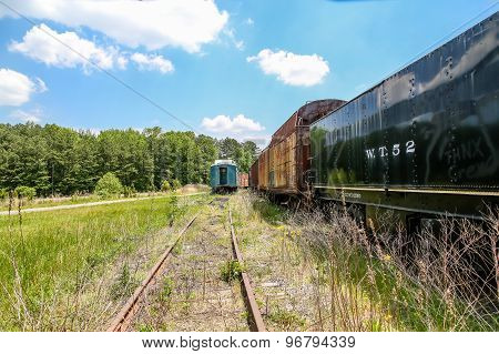 Steel Rails And Abandoned Trains