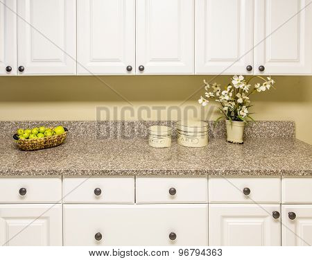 White Cabinets With Granite Countertop