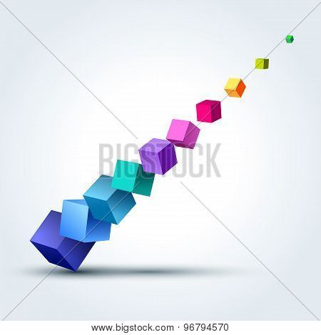 Abstract Illustration With 3D Cubes