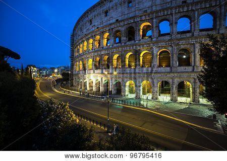Magnificent Evening Coliseum, Rome, Italy
