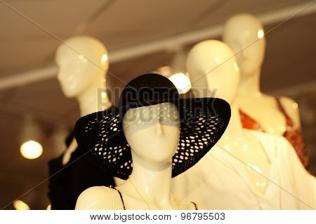 White Mannequin In Hat