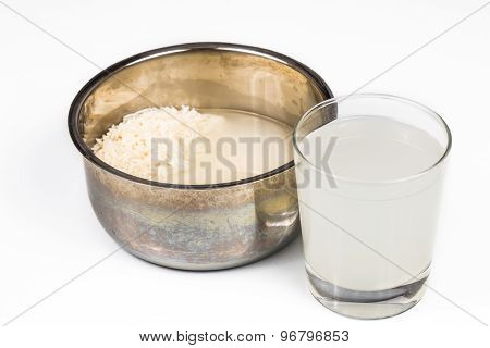 Water from rice rinse can be used as natural plant fertilizer
