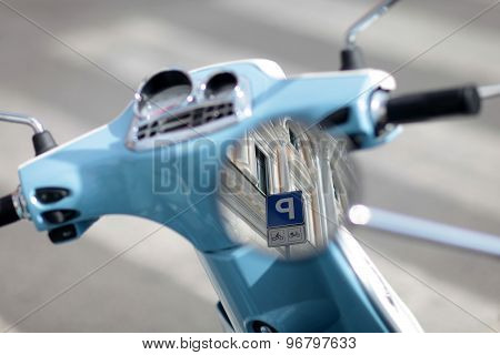 Rear View Mirror Of Moped