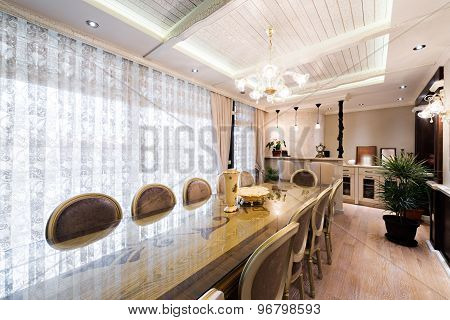 Luxury Apartment Interior - Dining Area