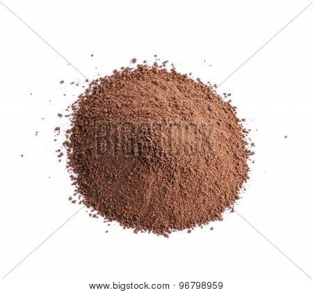 Pile of brown cocoa powder