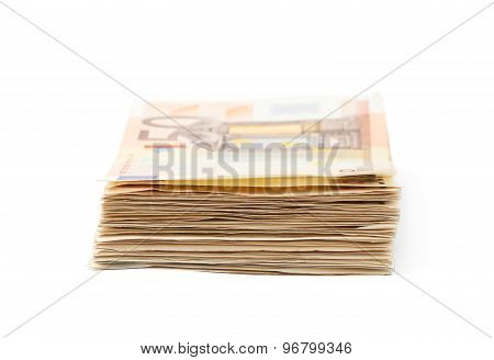 Stack pile of money
