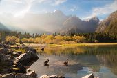foto of italian alps  - Fall is coming in the italian alps - JPG