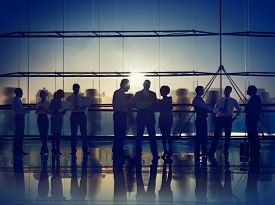 foto of communication  - Business People Corporate Meeting Communication Working Office Concept - JPG