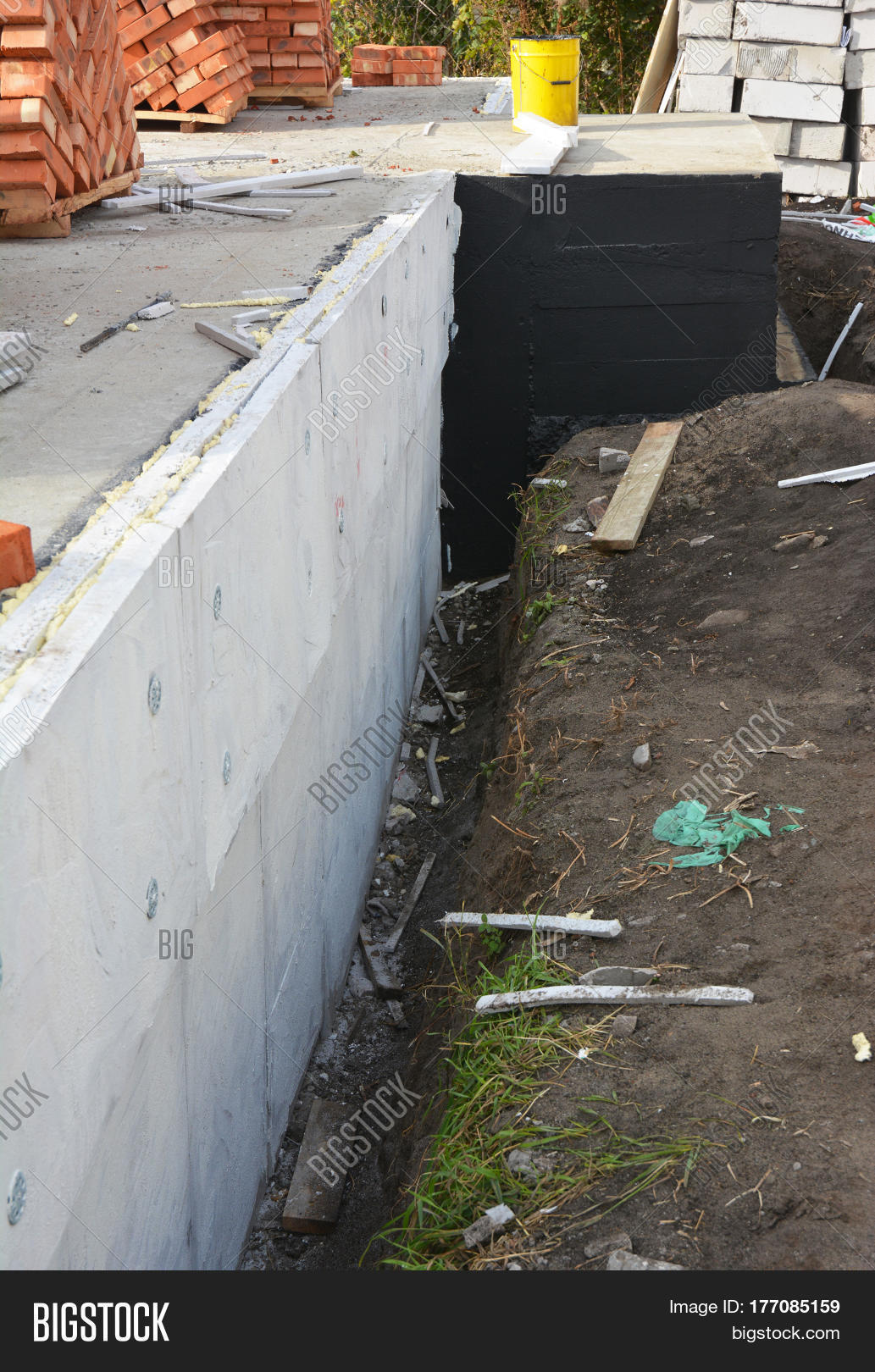 Insulating Exterior Foundation Image Photo Bigstock