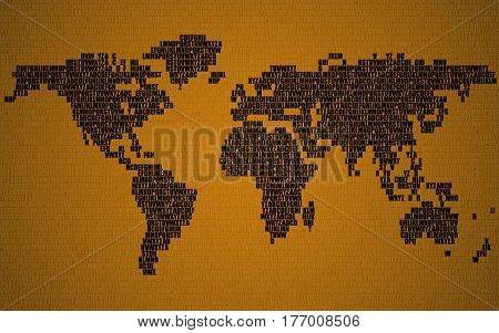 Vector y foto abstract world map letters english bigstock abstract world map with letters of english alphabet vector background gumiabroncs Choice Image