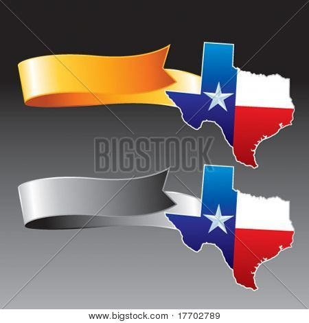 lonestar state on orange and gray ribbons