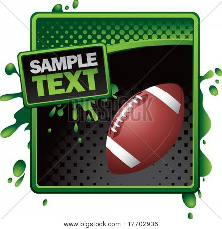 football on grunge style splat background