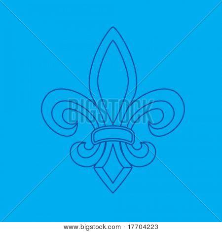 fleur de lis symbol blueprint
